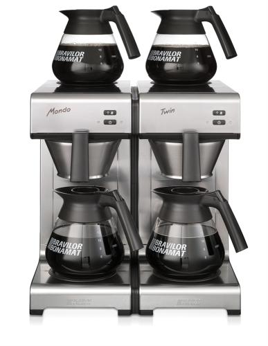 mondo twin filter coffee machine front